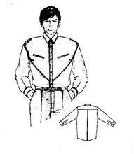 变化型男式衬衣