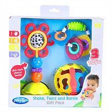 京东PLUS会员: Playgro 派高乐 婴幼儿宝宝摇铃 玩具礼包 *3件