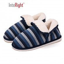 INTERIGHT 北欧长毛绒系列 IN1830 中性款包跟棉拖鞋 *5件