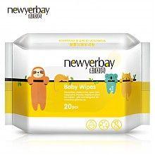 纽因贝(NEWYERBAY)婴儿臻厚手口湿巾 20抽