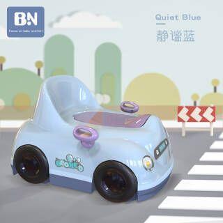 贝能 儿童马桶圈男女宝宝坐便器婴幼儿小便器小孩便盆尿盆加大号 静谧蓝 54.5元